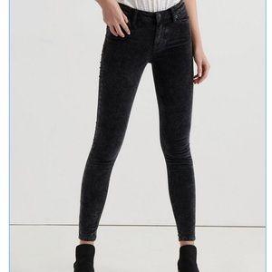 NWT Lucky Ava Mid-Rise Skinny Black Velvet Pant 30